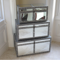 Embossed and Mirrored Furniture